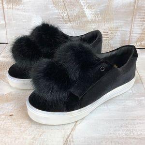 Sam Edelman Leya pompom sneaker black 8